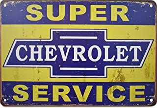 K&H Chevy Retro Metal Tin Sign Poster Wall Display 12X8-Inch