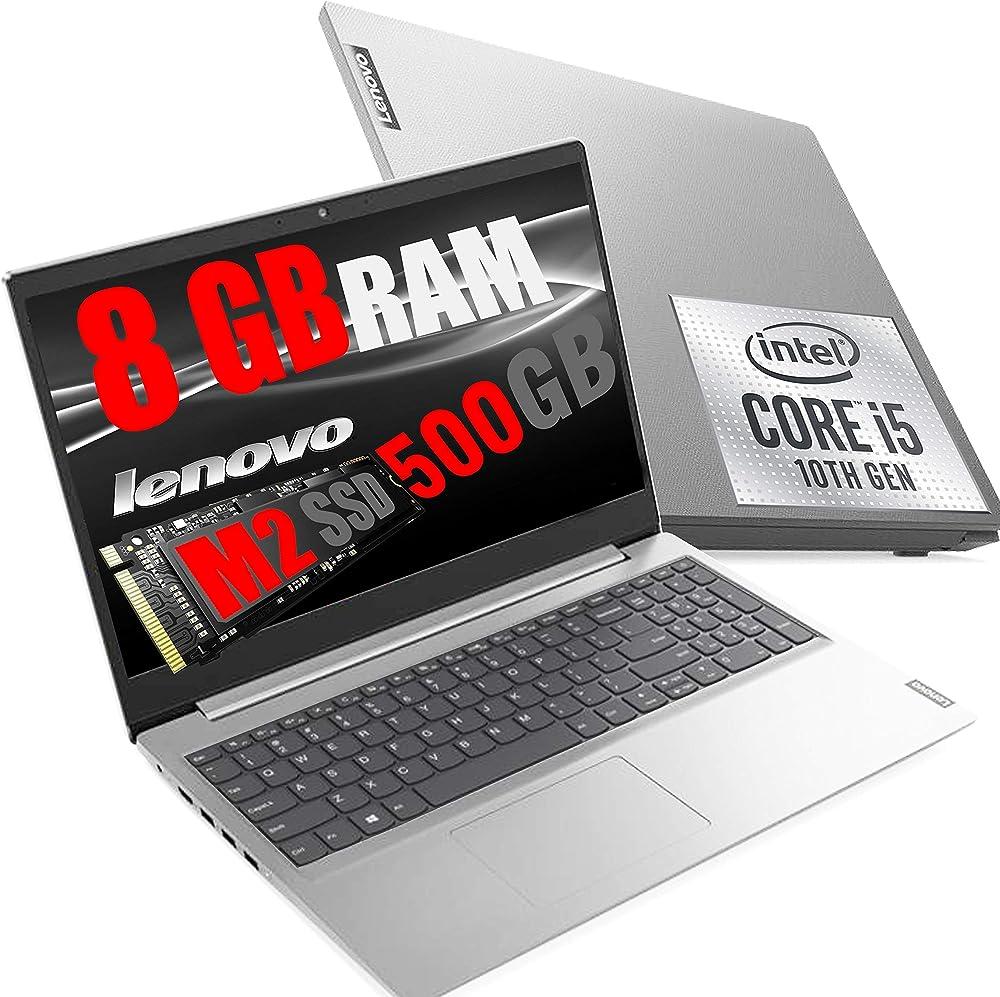 rgdigital srl notebook pc portatile cpu i5 quad core i5 ram 8gb ddr4 /ssd nvme 500gb/vga intel uhd lenovo i5 ideapad 3