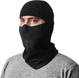 Balaclava Ski Mask Winter - Breathable Face Mask with UV Protection for Men and Women, Windproof & Sandproof Pull On Closure for Cold Weather Working, Skiing, Biking, Motorcycle Riding, Black