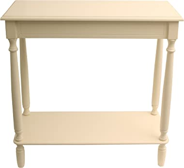 "Décor Therapy Console table, 28.25"" W x 11.8"" D x 28.25"" H, Antique White"