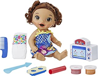 Baby Alive Snackin' Treats Baby (Brown Curly Hair)