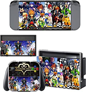 Decal Moments Nintendo Switch Console Vinyl Skin Decal Stickers for Nintendo Switch Dock Joy Con Skin Kingdom Hearts