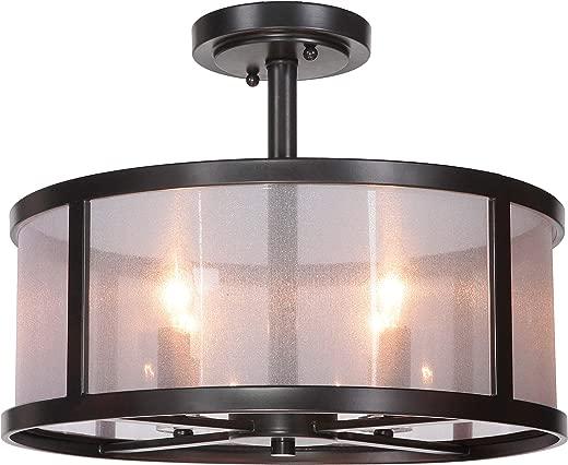 ✅Craftmade 36754-MBK 4 Light Semi Flush #Lighting & Ceiling Fans