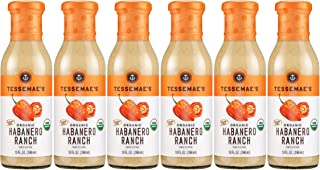 Case of 6 - Tessemae's All Natural Marinade, Dressing & Sauce‎ (Habanero Ranch)