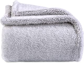 Berkshire Blanket Frosty Tipped Extra-Fluffy Plush Throw, Chateau Grey