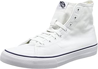 Sk8-hi Decon, Unisex Adults' Hi-Top Sneakers, White (Canvas - True White/Dress Blues), 11 UK (46 EU)