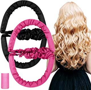 3 Pieces Hair Curlers Styling Kit Includes 2 Pieces No Heat Spiral Curls Rollers Overnight Foam Hair Rollers Soft Heatless...