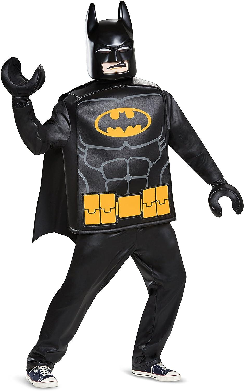 LEGO Adult Batman Deluxe Fancy Dress Costume Standard Batman
