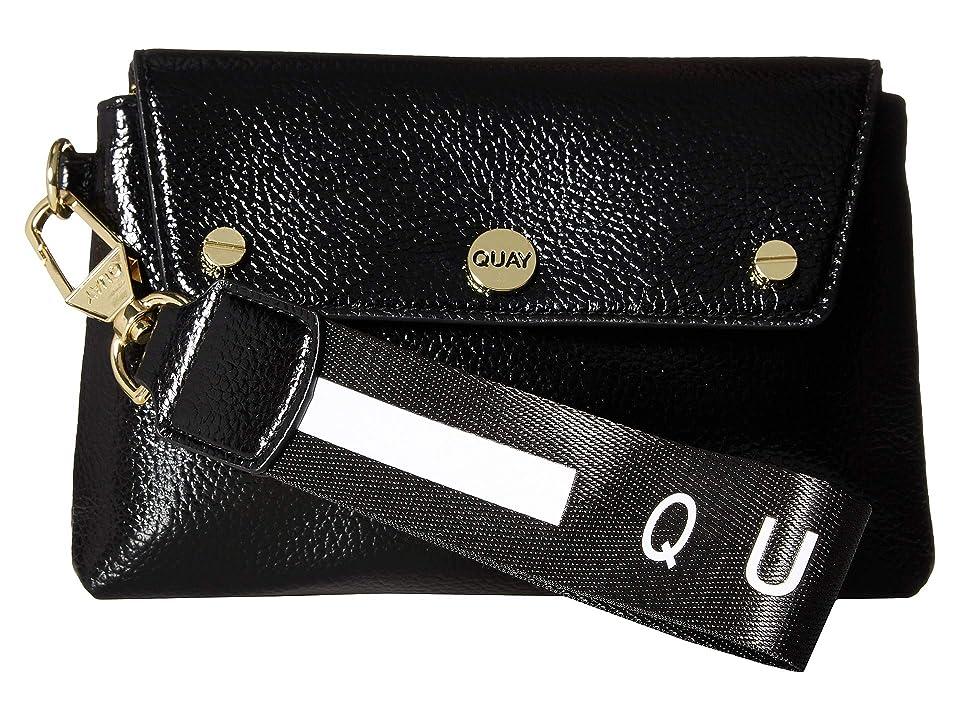 QUAY AUSTRALIA Wristlet (Black/Gold) Handbags
