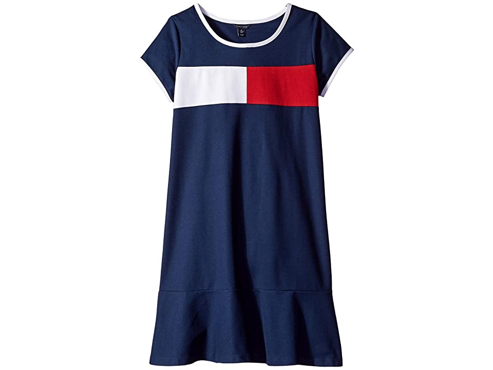 Tommy Hilfiger Kids Core Flag Dress (Big Kids) (Flag Blue) Girl