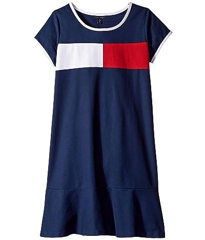 Tommy Hilfiger Kids Core Flag Dress (Big Kids) (Flag Blue) Girl