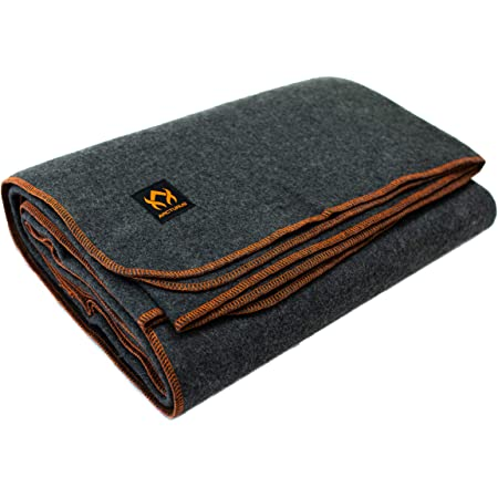 """Arcturus Military Wool Blanket - 4.5 lbs, Warm, Thick, Washable, Large 64"""" x 88"""" - Great for Camping, Outdoors, Arcturus Military Wool Blanket - 4.5 lbs, Warm, Thick, Washable, Large 64"""" x 88"""" - Great for Camping, Outdoors, Sporting Events, or Survival & Emergency Kits"""
