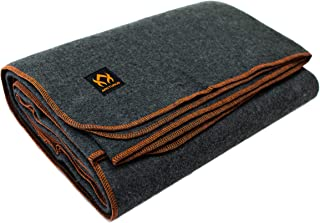 """Arcturus Military Wool Blanket - 4.8 lbs, Warm, Heavy, Washable, Large 64"""" x 88"""" 