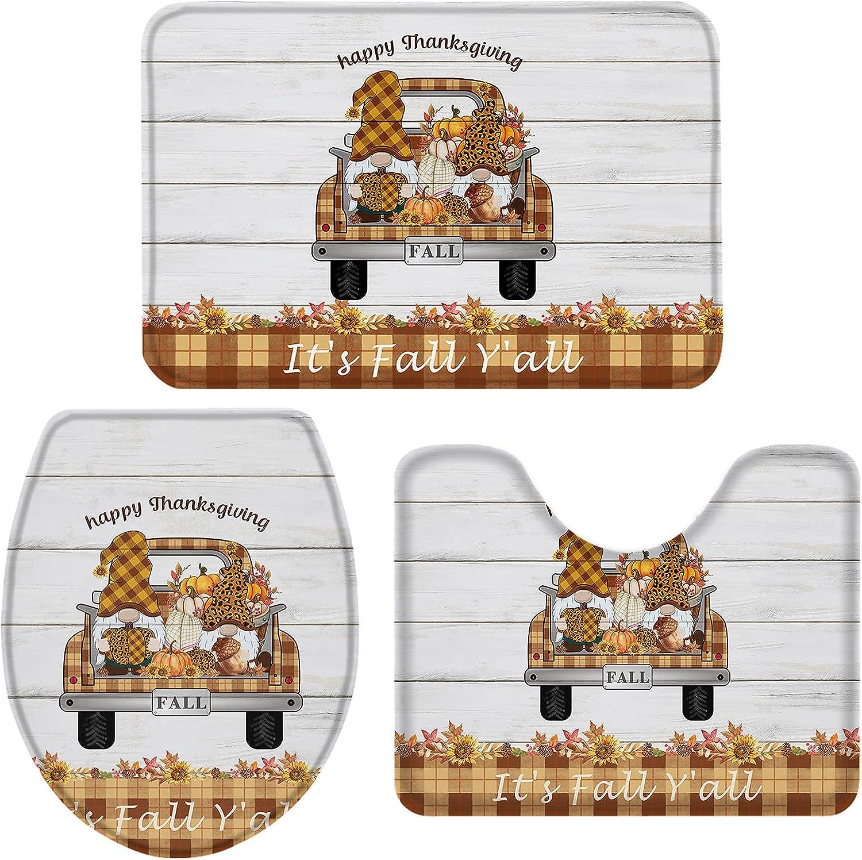 Farm Tartan Grid Truck with Pumpkin 3 Bath Dwarf and Pieces Rugs Arlington Mall Price reduction