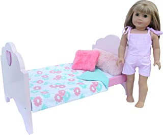 american girl doll pink bed