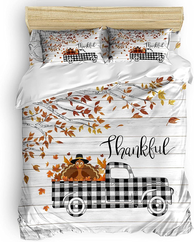 Ocean Party Cheap bargain Duvet Cover Full Turkey Size Truck Soldering Mapl Thanksgiving