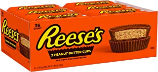 Reese's Halloween Candy, Peanut Butter Cups Chocolate Bulk Candy, 1.5 Oz Packages (Pack of 36)