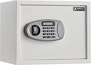AdirOffice Security Safe with Digital Lock - White - 1.25 Cubic Feet