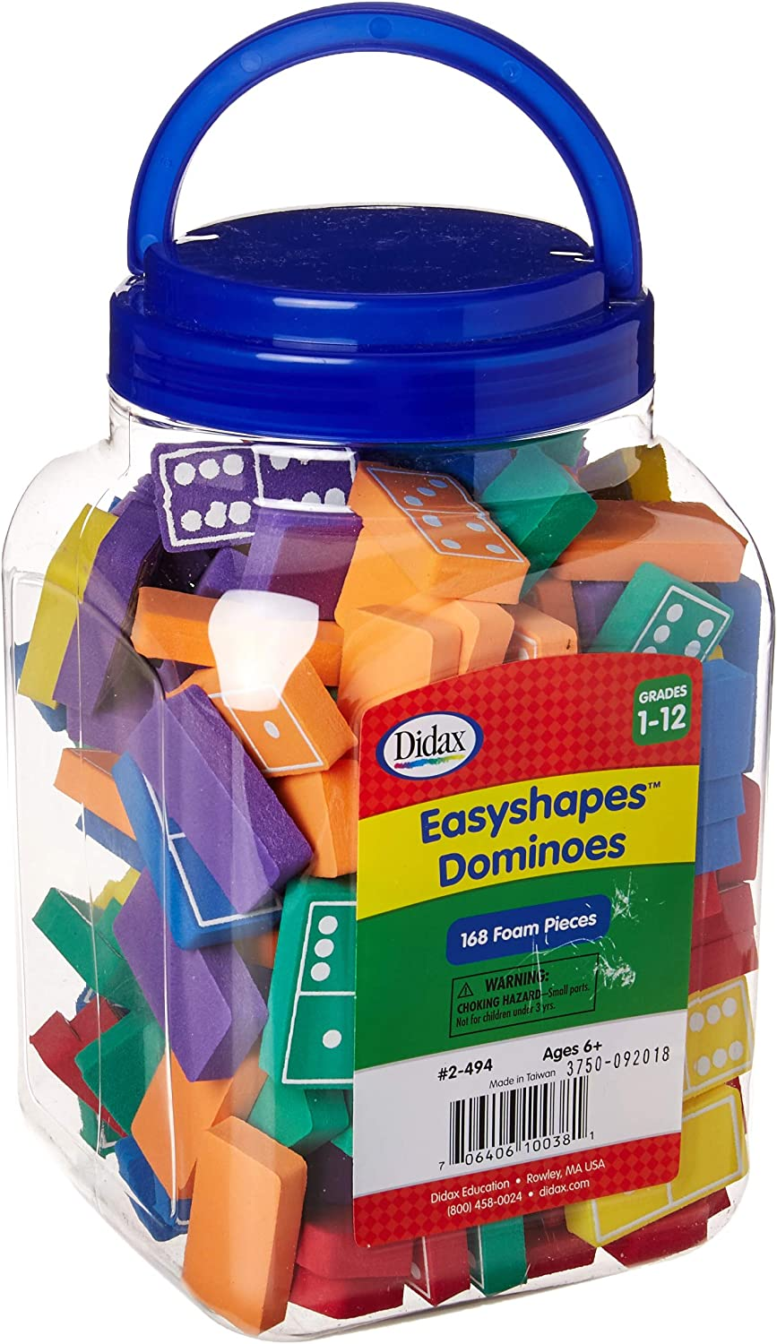 Large-scale sale Didax Bombing new work Educational Resources Easyshape Dominoes 168 Set of