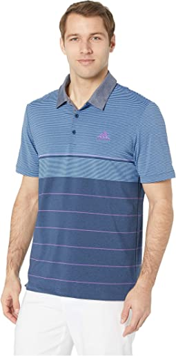 Ultimate Heather Gradient Stripe Polo