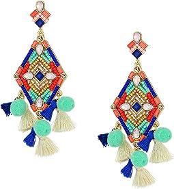 Rebecca Minkoff - Geo Stone Statement Earrings