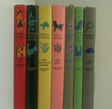 7 Volumes of Junior Deluxe Editions Books: Gulliver's Travels, Grimm's Fairy Tales, Animal Stories-Tales of the Old Plantation, Eight Cousins, Marco Polo, Stories From the Arabian Nights, Sherlock Holmes [Illustrated]