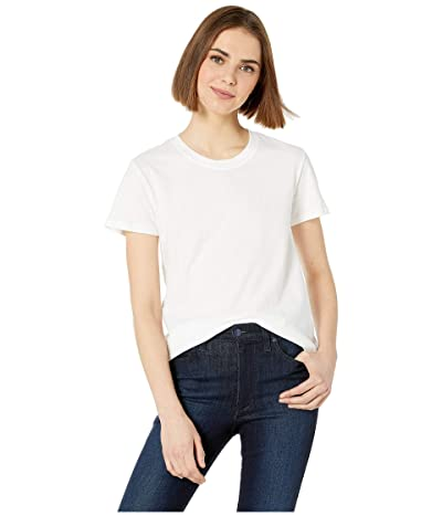 Hurley Solid Perfect Crew T-Shirt Short Sleeve (White) Women