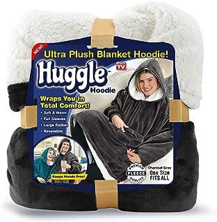 Ontel Huggle Hoodie Ultra Plush Blanket Hoodie - Charcoal Grey