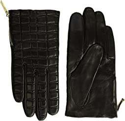 Kate Spade New York - Bow Quilted Gloves with Side Zipper