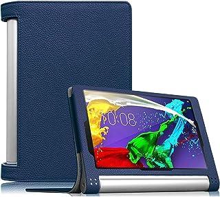 【Fintie】 Lenovo YOGA Tablet 2 8 インチ 専用保護ケース 超薄型 軽量 スタンド型カバー 高級PU レザー オートスリープ機能 (ネイビー)