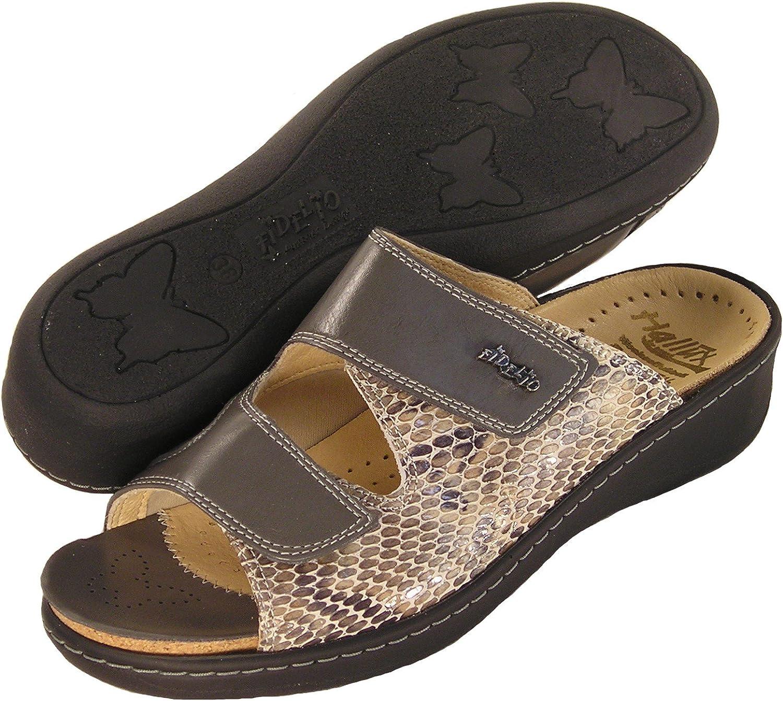 Fidelio Women's Hallux Fabia Bunion Relief Slide Sandal 33719 (Grey)