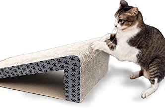 iPrimio Cat Scratcher Ramp - Foldable for Travel and Easy Storage - Great for Cats Playing Over, Under, and Scratching - Patent Pending Design