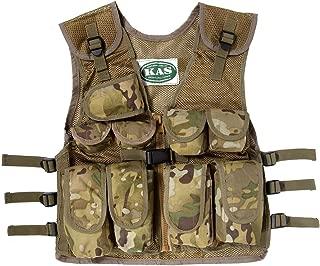 Nylon CS Game Molle Bodysuit Armor Vest Kids Camo Vest Army Body Armor Molle Vest for kids aged 8-14 years Camo