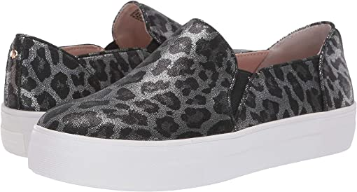 Grey Metallic Leopard