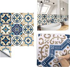Tegelstickers, Zelfklevende Waterdichte Marokkaanse Tegelstickers DIY Tegeloverdrachten Marokkaanse Mozaïek Victoriaanse R...