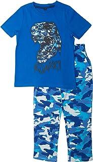 Popgear Rugido del Dinosaurio Camo Chicos Larga Pijamas Set | mercancía Oficial | T-Rex, Raptor, Boys School Pijamas, Ropa...