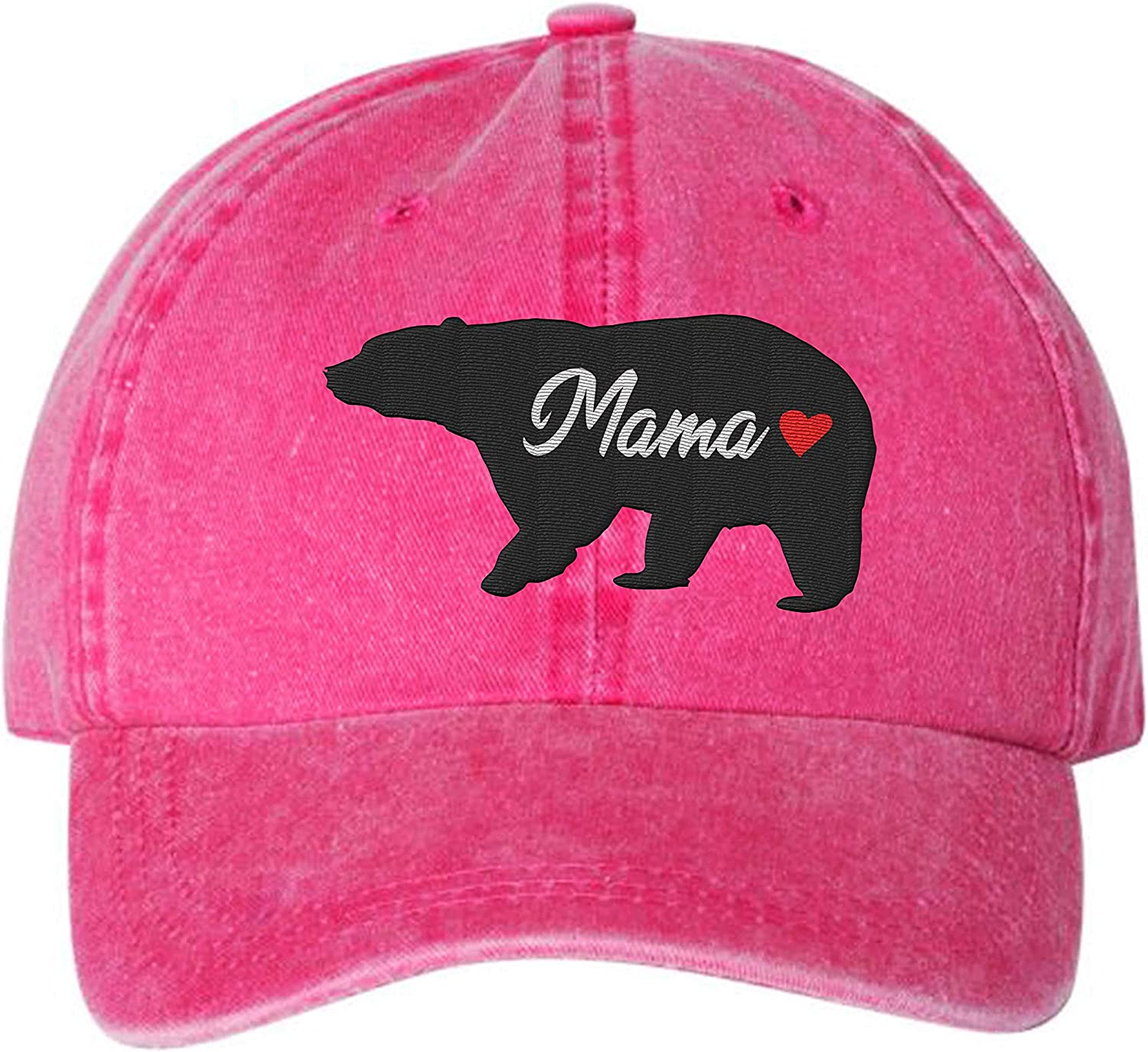 Mama Bear Tulsa Mall Distressed Pigment Dyed Translated Hat One-Size 6 Best Nove Panel