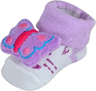 INSTABUYZ Socks Cum Booties for Kids Socks for Girls Baby Children Babies Age Group 3-15 Months