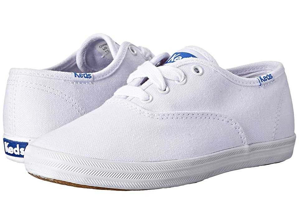 Keds Kids Original Champion CVO (Little Kid/Big Kid) (White Canvas) Girls Shoes