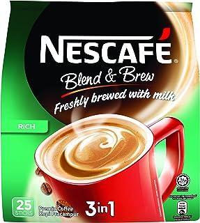 Nescafé BlendandBrew Rich 3-In-1 Instant Coffee, 25x19g