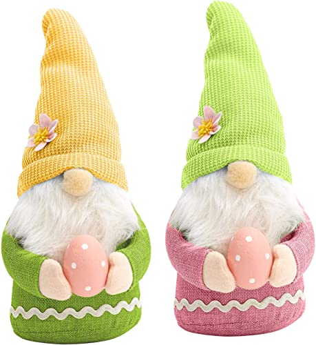 lowest 2 PCs Easter Gnome Decor with Easter Egg, Handmade Plush Easter Faceless Ornaments Holding Egg, Easter Desktop high quality Gnome Ornaments, Indoor Spring Decor, Tabletop popular Figurines online