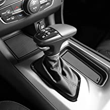 Custom Fit Cup, Door, and Console Liner Accessories for 2011-Present Dodge Charger (Solid Black)