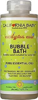 California Baby Eucalyptus Bubble Bath | No Tear | Pure Essential Oils for Bathing | Hot Tubs, or Spa Use | Moisturizing Organic Aloe Vera and Calendula Extract |(13 fl. ounces)