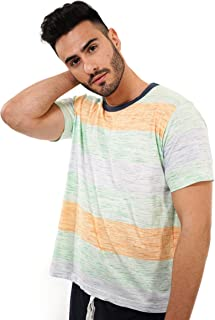 Pijama de Hombre de Verano – Pijama de Hombre 100% algodón Color flúor - Pijama de Hombre de Manga Corta y pantalón Corto Estampado – Color flúor – Moda Homewear