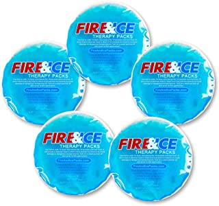 Fire & Ice Hot Cold Gel Packs—5 Reusable Therapy Pads-Use Microwave Hot or Freezer Cold for Injuries, Arthritis Pain, Tire...