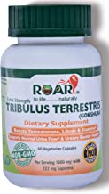 Max Strength Tribulus Terrestris (Gokshura) 1600mg Vegetarian Capsules (60% Saponins) for Libido, Stamina & Male Energy with Urinary Support.