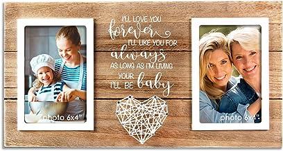 """Moldura para fotos VILIGHT Mom Presentes para Dia das Mães e Aniversário da Filha e do Filho, Holds 2 4""""x6"""" Photos"""