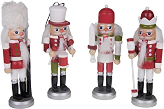 """Clever Creations Nutcracker King Christmas Ornament Set Red, Green and White Scheme 