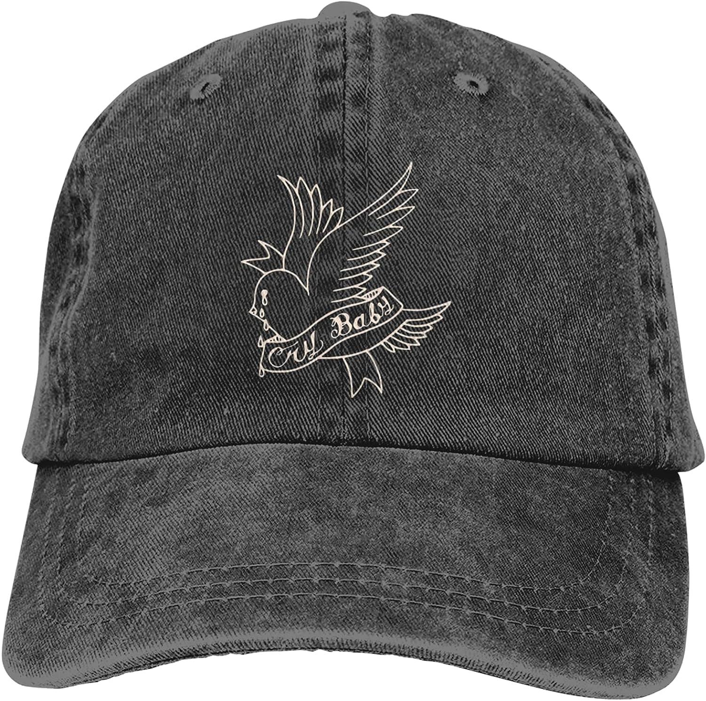 Unisex Lil Peep Cowboy Hat Cotton Washed Denim Adjustable Baseball Hat for Outdoor Sports Casquette