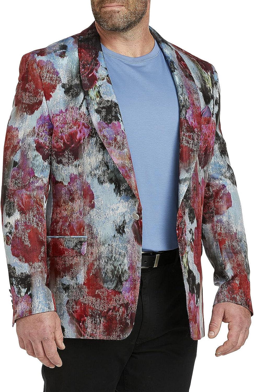 Tallia Mens Vibrante Metallic Sportcoat One-Button Blazer